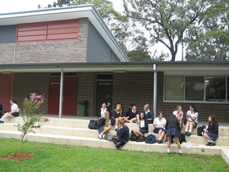 PDHPE building forecourt.