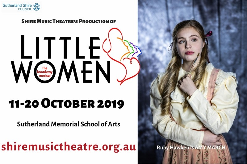 Flyer advertising Little Women by Shire Music Theatre on 11-20 October 2019